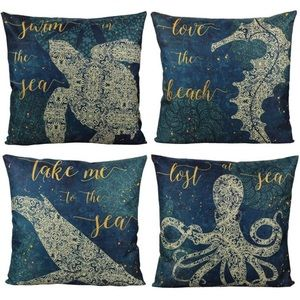Other - Pillow Covers Ocean Turtle Nautical Sea Set of 4